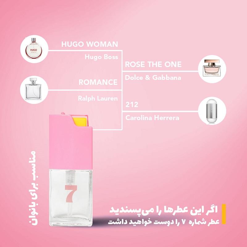 عطر جیبی زنانه بیک شماره ۷