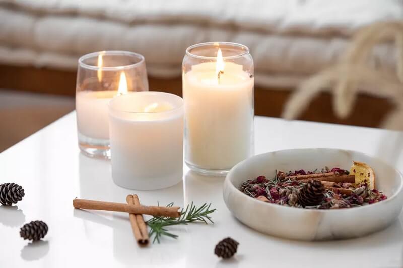 استفاده از شمع طبیعی
